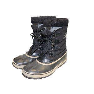 Sorel Carnival Black Waterproof Winter Boots